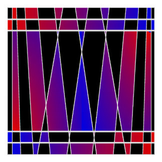 Art Deco 'Fractured' by Kenneth Yoncich Poster