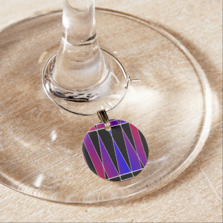 Art Deco 'Fractured' by Kenneth Yoncich Wine Charm