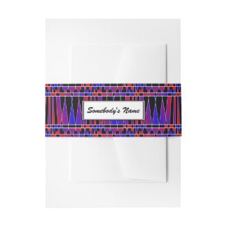 Art Deco 'Fractured' (Personalized) Invitation Belly Band