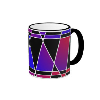 Art Deco 'Fractured' Ringer Mug