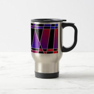 Art Deco 'Fractured' Travel Mugs