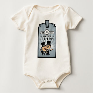 Art-Deco-Frame-And-Rays-3 Baby Bodysuit