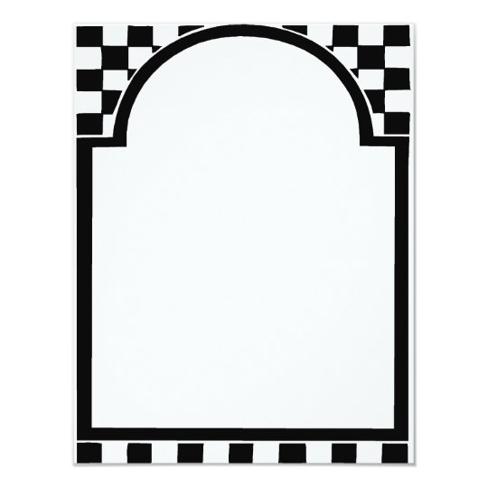 Art Deco frame, Squares Card