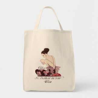 Art Deco French Fashion Image Happiness of the Day Tote Bag
