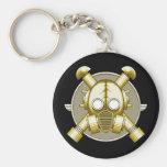Art Deco Gasmask keychain