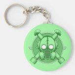 Art Deco Gasmask keychain Green