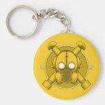 Art Deco Gasmask keychain Yellow