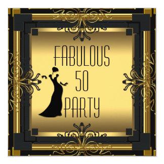 ART DECO Gatsby Fabulous 50 50th Birthday Party Card