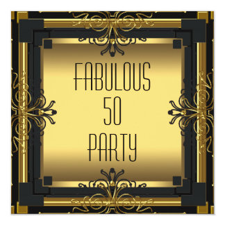 ART DECO Gatsby Fabulous 50 50th Birthday Party Announcement