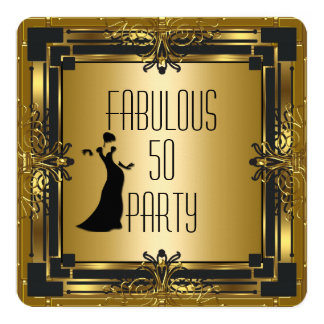 ART DECO Gatsby Fabulous 50 50th Birthday Retro Card