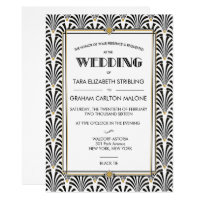 Art Deco Gatsby Geometric Wedding Invitation