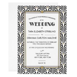 Art Deco Gatsby Geometric Wedding Invitation