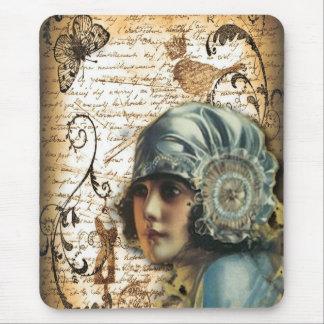 Art Deco Gatsby Girl Paris fashionista Mouse Pad