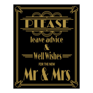 "Art Deco Gatsby ""please leave advice""  print"