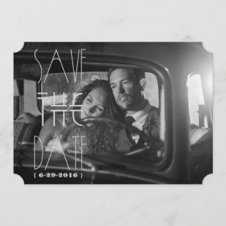 Art Deco Gatsby Save the Date | 5x7 Invite Ticket