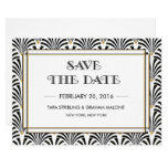 Art Deco Gatsby Save The Date Invitation