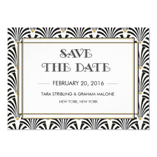Save The Date Card / The Great Gatsby Save the Date Wedding Card ...