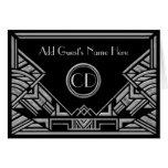 Art Deco Gatsby Silver Grey Wedding Place Cards