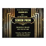Art Deco Gatsby Style Prom Invitation-Roaring 20's 5x7 Paper Invitation Card