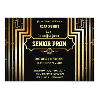 Art Deco Gatsby Style Prom Invitation-Roaring 20's Card