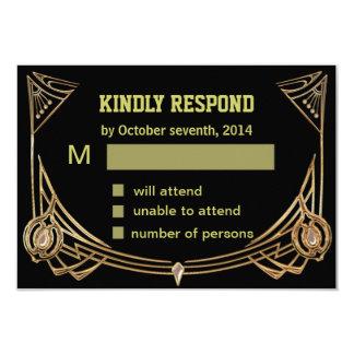 Art Deco Gatsby Style Response Card