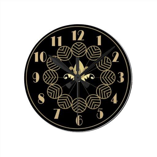 Wall Clock Art Nouveau : Art deco gatsby style wallclock zazzle