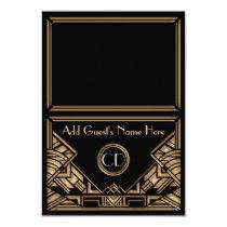 Art Deco Gatsby Style Wedding Escort Place Cards Custom Invitations