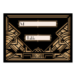 Art Deco Gatsby Style Wedding Escort Place Cards Large Business Cards (Pack Of 100)