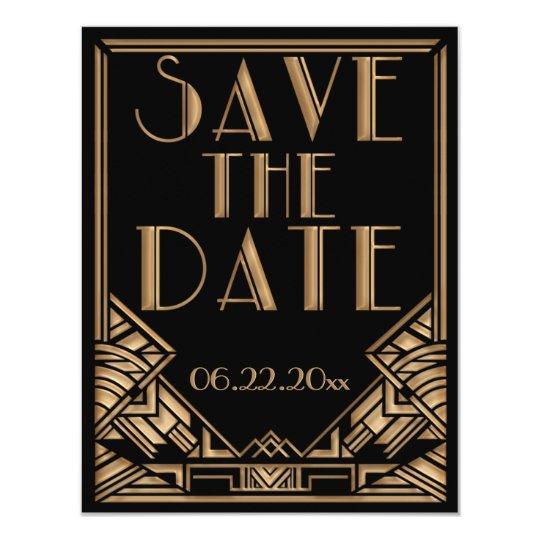 art deco gatsby style wedding save the date invitation zazzle com