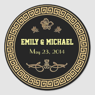 Art Deco Gatsby Style Wedding Stickers - Labels