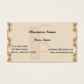 Art Deco Geometric Business Card
