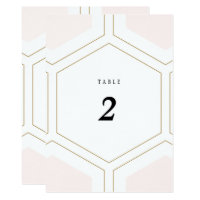 Art Deco Geometric Diamond Wedding Table Number