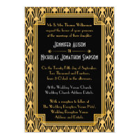 Art Deco Geometric Diamonds Pattern Wedding Card
