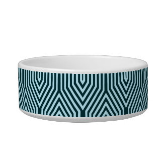 Art Deco Geometric - indigo and ice blue Bowl