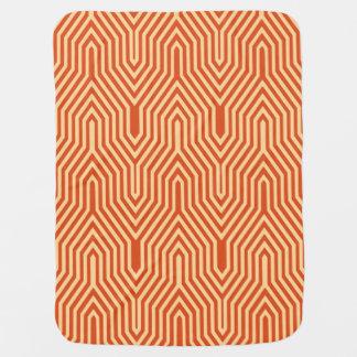Art Deco Geometric - mandarin orange Baby Blanket