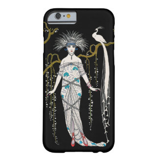 Art Deco George Barbier Fashion Plate Peacock Barely There iPhone 6 Case