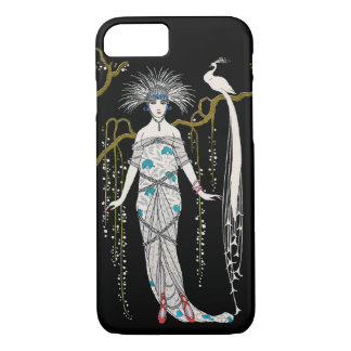 Art Deco George Barbier Fashion Plate Peacock iPhone 8/7 Case