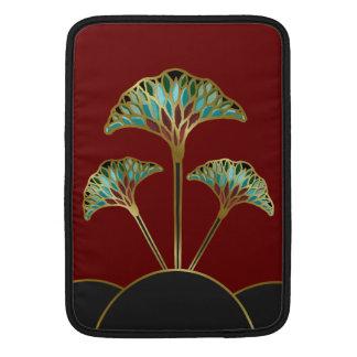 Art Deco Ginkgo Leaves Macbook Sleeve