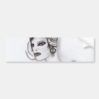Art Deco Girl 2 Bumper Sticker