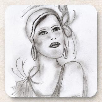 Art Deco Girl Coaster