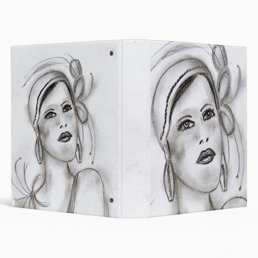 Art Deco Girl I Vinyl Binder