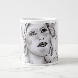 Art Deco Girl II Large Coffee Mug