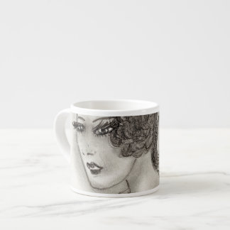 Art Deco Girl IV Espresso Cup