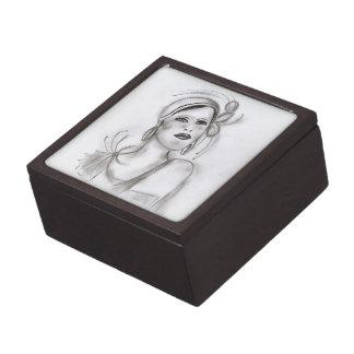 Art Deco Girl Jewelry Box