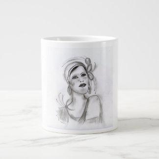 Art Deco Girl Large Coffee Mug
