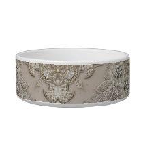 Art Deco Glamorous Great Gatsby Rhinestone Lace Bowl