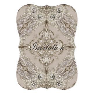Art Deco Glamorous Great Gatsby Rhinestone Lace Card
