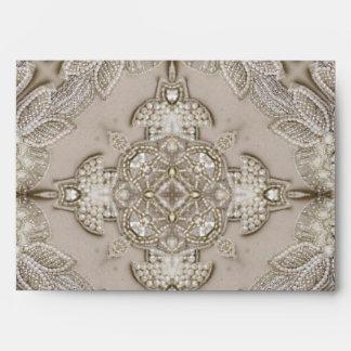 Art Deco Glamorous Great Gatsby Rhinestone Lace Envelope