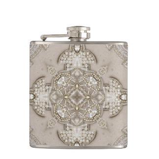 Art Deco Glamorous Great Gatsby Rhinestone Lace Flask