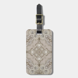 Art Deco Glamorous Great Gatsby Rhinestone Lace Luggage Tag